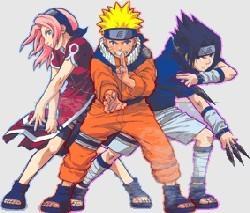 Сакура, Наруто и Саске - команда 7